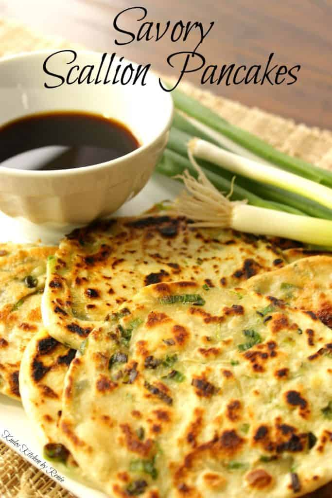 Pancakes with scallions