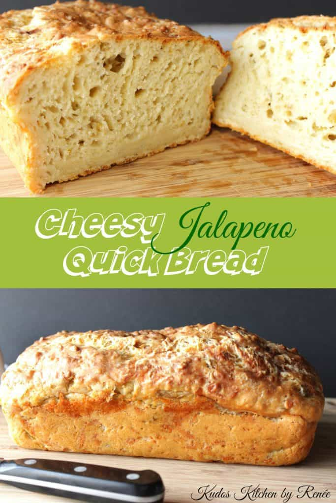 Quick bread with cheese and peppers