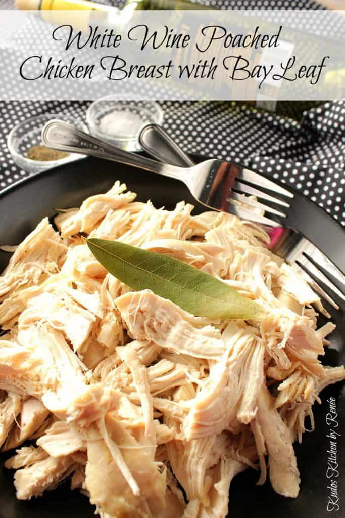 Chicken Breast Poached in White Wine