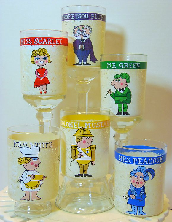 Clue Character Old Fashioned Glasses