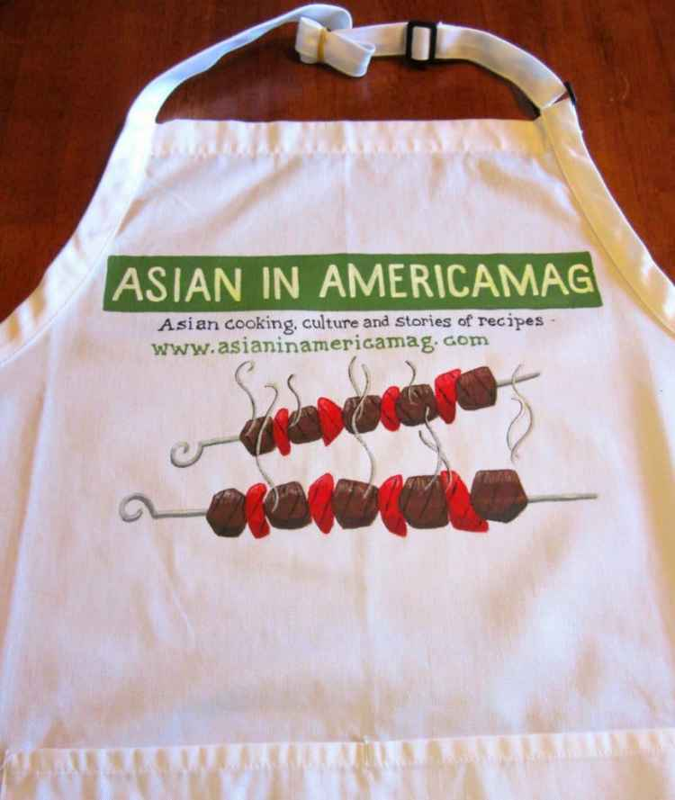 Hand Painted Food Blogger Logo Apron
