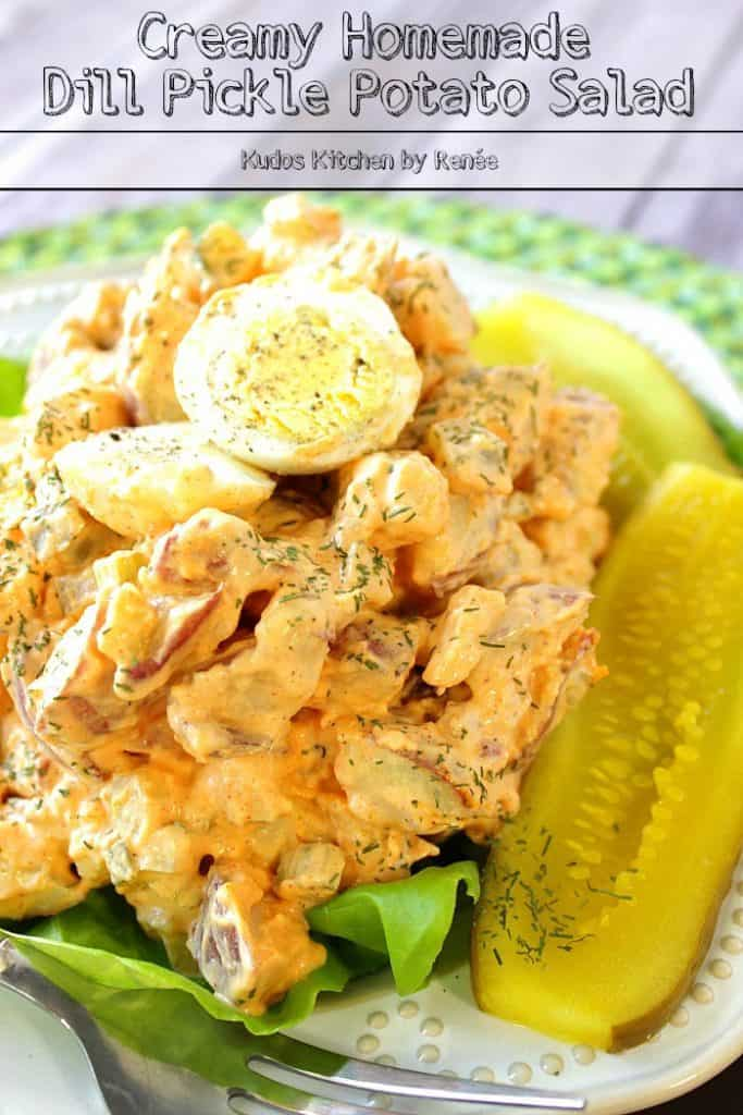 Homemade Potato Salad with Dill Pickles