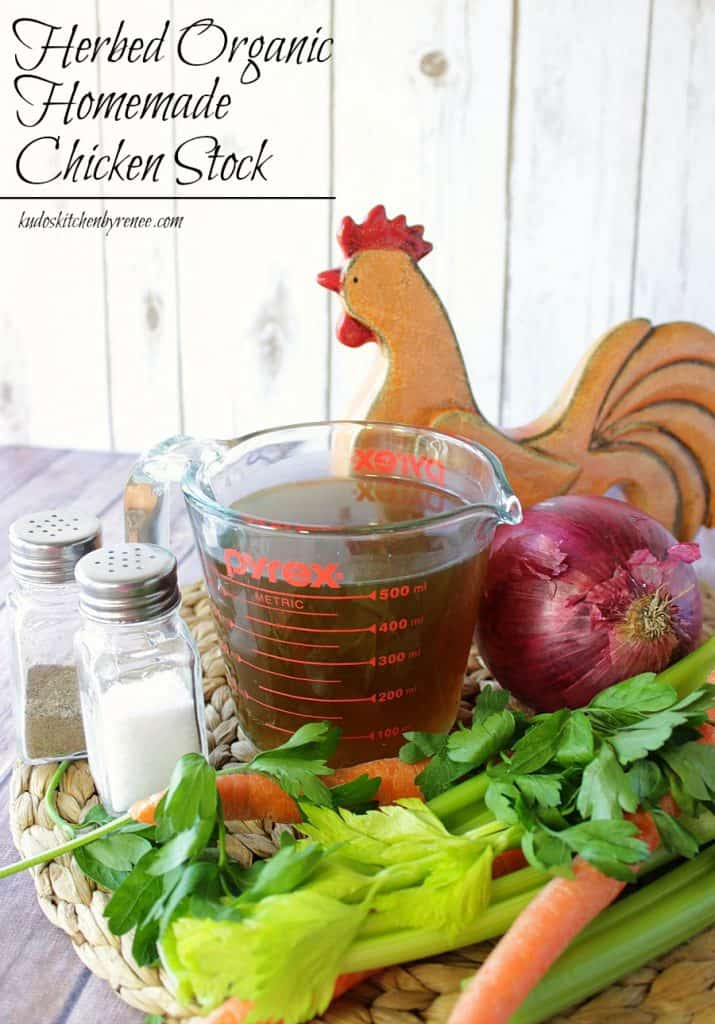 Herbed Organic Homemade Chicken Stock