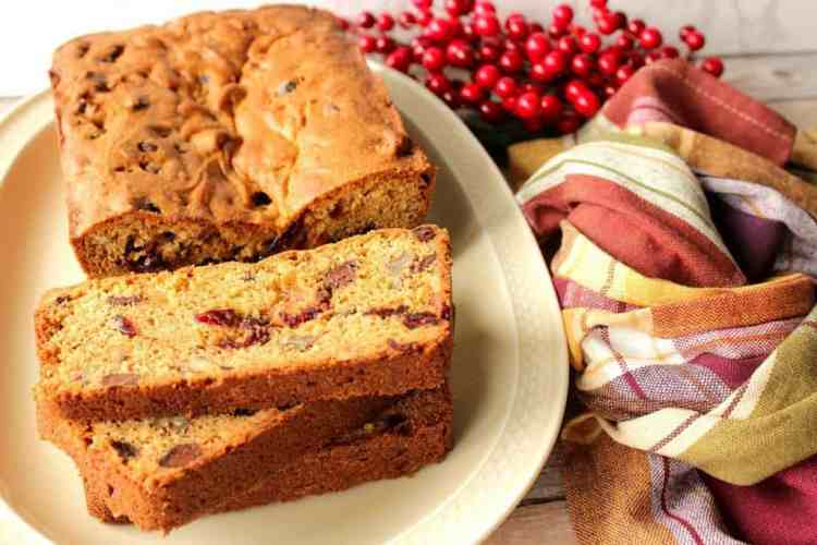 Cranberry Quick Bread with Chocolate and Pecans