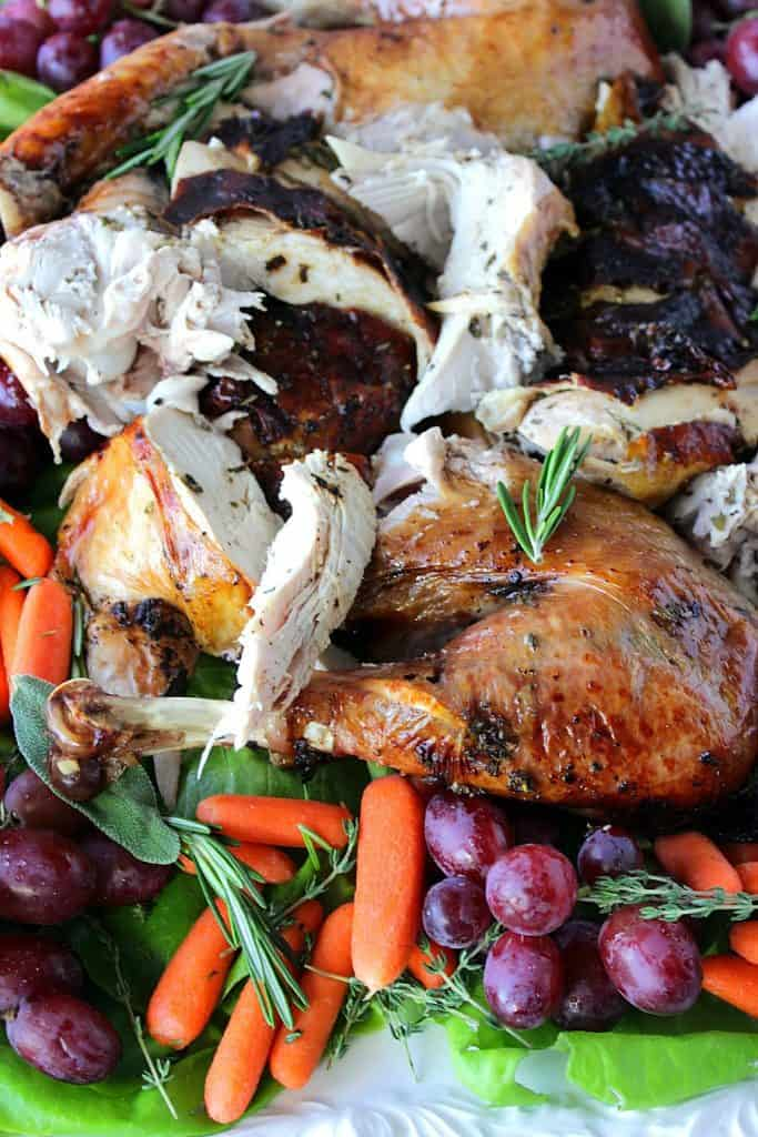 Roast Turkey with Balsamic Glaze and Herbed Butter