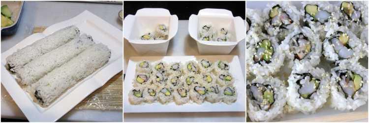 Avocado Shrimp Sushi Roll Tutorial