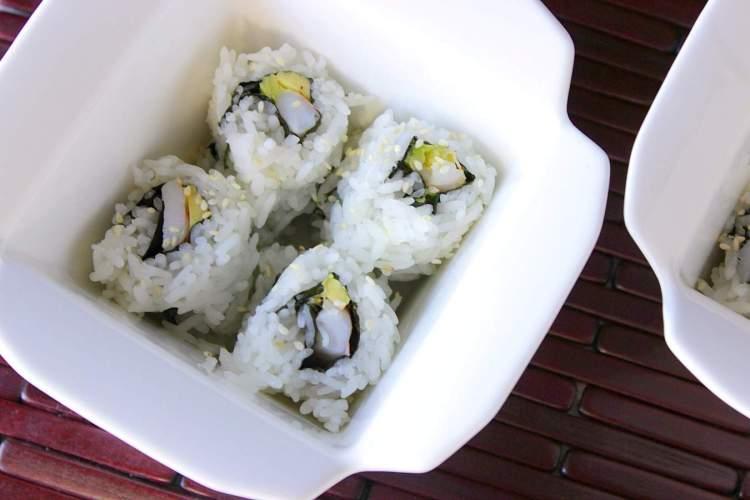 Homemade Avocado Shrimp Sushi Rolls