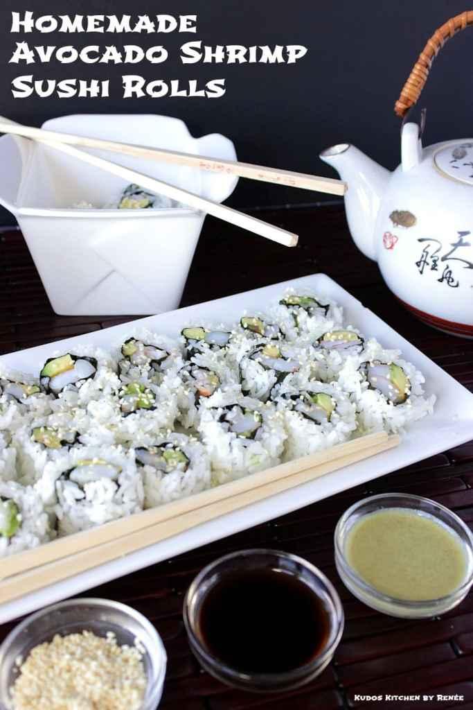 Avocado Shrimp Sushi Rolls