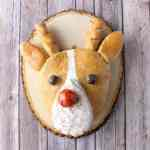 Whole Wheat Rudolph shaped bread