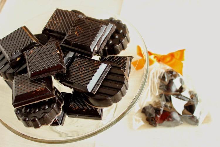 Easy Dark Chocolate Candy with Almonds