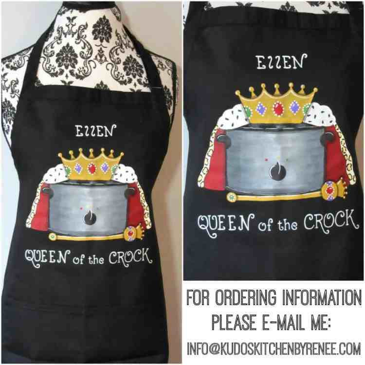 Hand Painted Custom Slow Cooker Apron