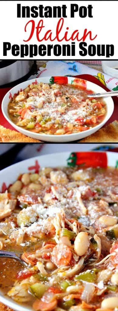 Instant Pot Italian Pepperoni Soup Recipe