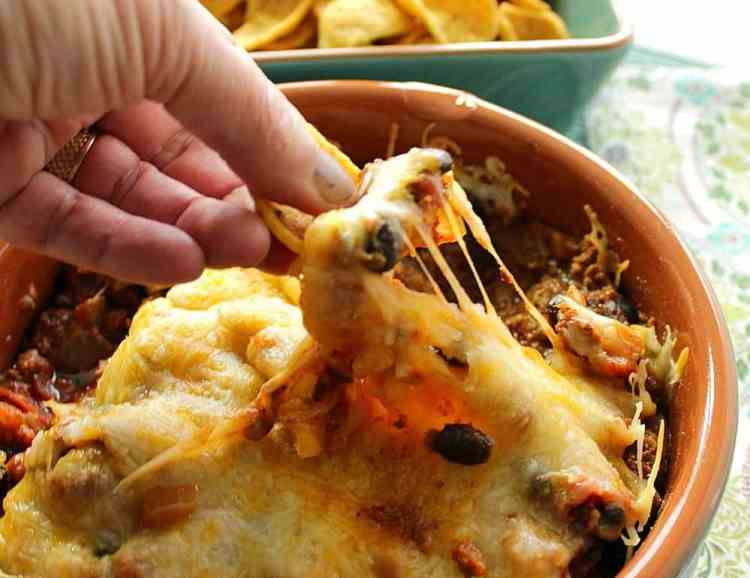 Mexican Bean Dip with Cheese