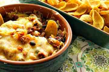 Cheesy Mexican Bean Dip Recipe with Chips