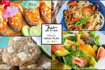 Thrive At Five Weekly Meal Planning Collage