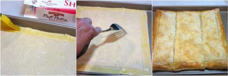 Preparing puff pastry to make a BLT Puff Pastry Tart - Kudos Kitchen by Renee