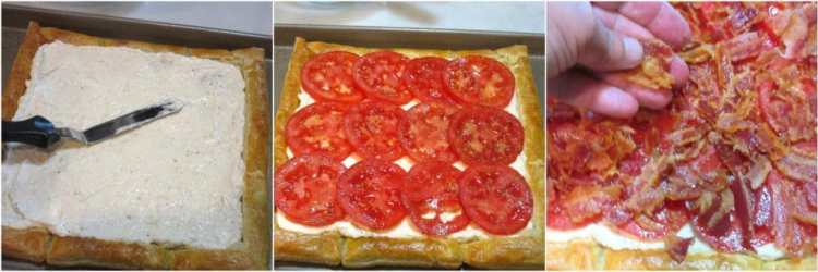 Making a BLT Puff Pastry Tart Recipe - Kudos Kitchen by Renee