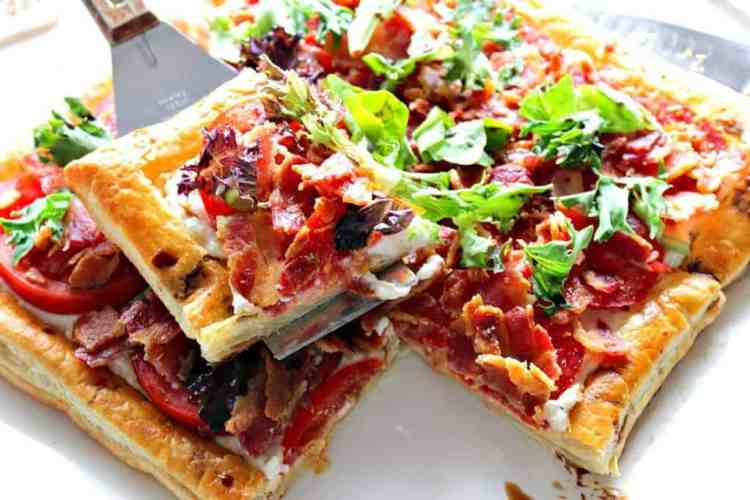 BLT Puff Pastry Tart - Kudos Kitchen by Renee