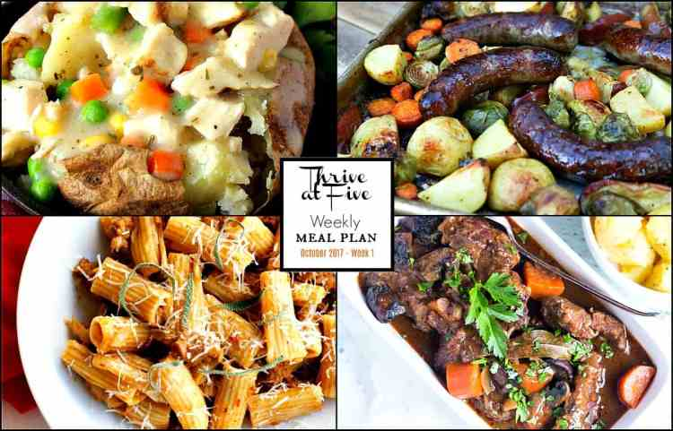 Weekly Meal Planning Featured Image Collage October Week One