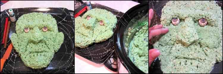 How to make Frankenstein Rice Cereal Halloween Treat   Kudos Kitchen by Renee