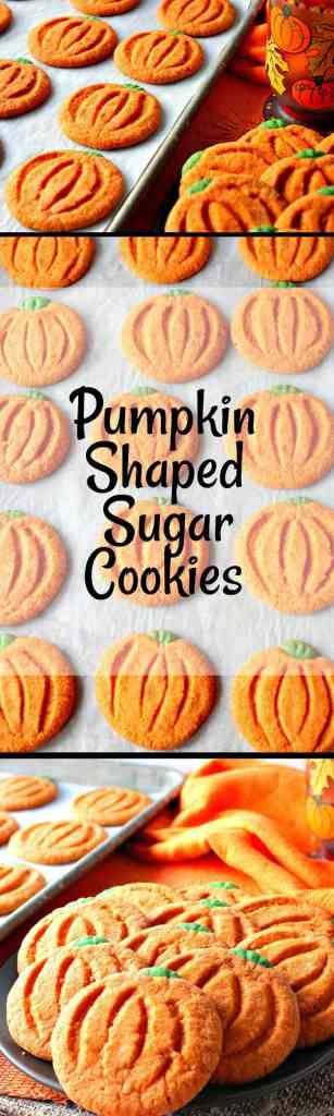Pumpkin Shaped Sugar Cookies - kudoskitchenbyrenee.com