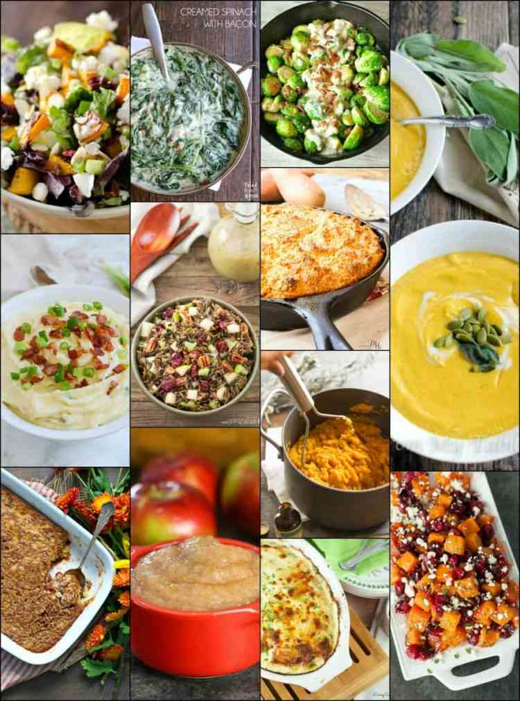 Thanksgiving Side Dish Roundup Collage for Friday's Featured Foodie Feastings