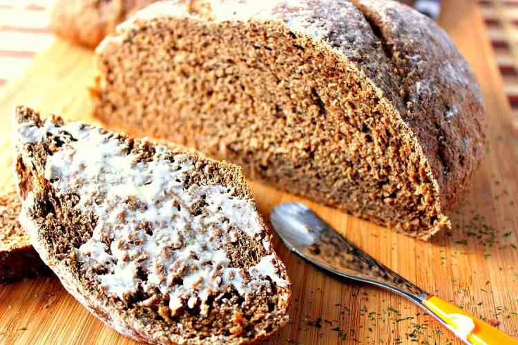 Rustic sliced Onion Rye Bread with Dill | Kudos Kitchen by Renee