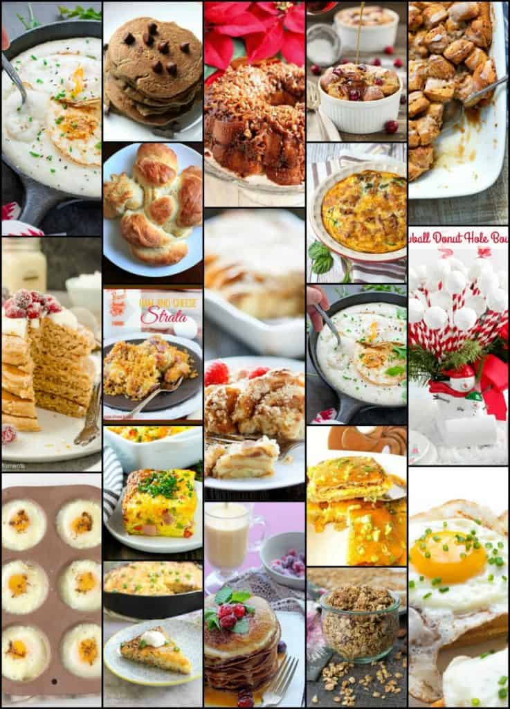 Christmas Breakfast Brunch Recipe Roundup Collage 2017 | Kudos Kitchen by Renee