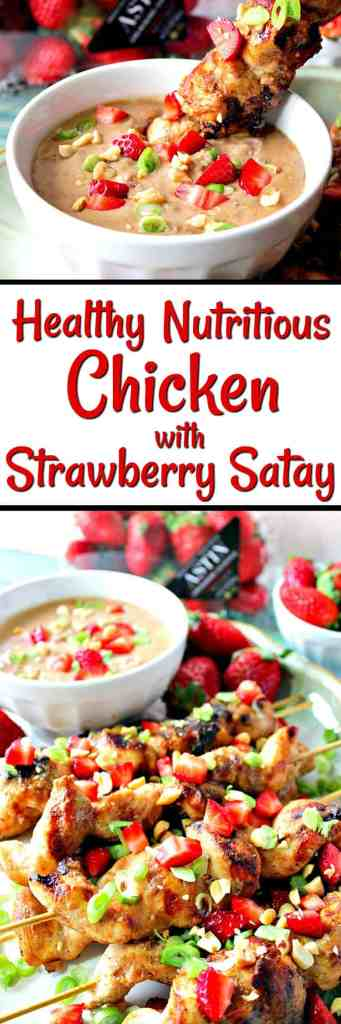 Healthy Nutritious Chicken with Strawberry Satay Sauce for #SundaySupper featuring #FLStrawberry | Kudos Kitchen by Renee
