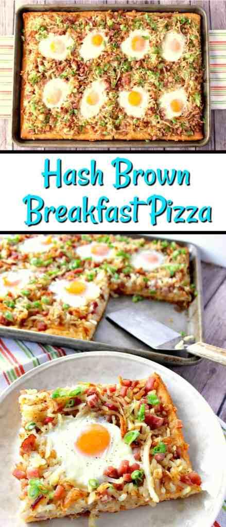 Sunny Side Up Hash Brown Breakfast Pizza - www.kudoskitchenbyrenee.com