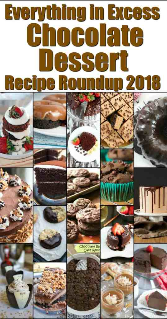 Chocolate Dessert Recipe Roundup for Friday's Featured Foodie Feasting - www.kudoskitchenbyrenee.com