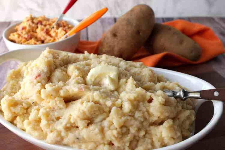 Zippy Pimento Cheese Mashed Potatoes - kudoskitchenbyrenee.com