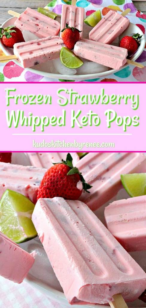 With only six ingredients these Creamy Dreamy Frozen Strawberry Whipped Keto Pops are the perfect summertime frozen treat for sticking to your keto diet plan and for indulging in something deliciously sweet. - kudoskitchenbyrenee.com