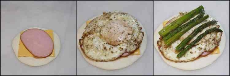 How to make Egg & Asparagus Breakfast Quesadillas photo tutorial.- www.kudoskitchenbyrenee.com
