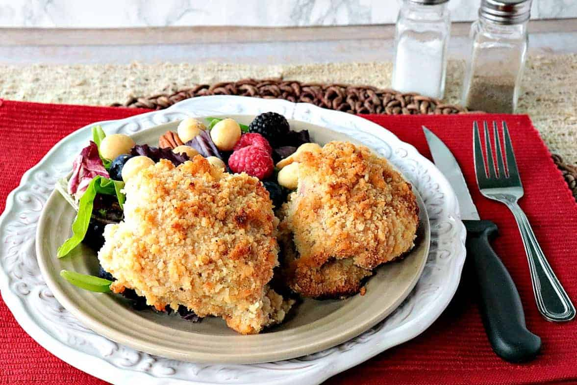 nut crusted chicken breasts Macadamia