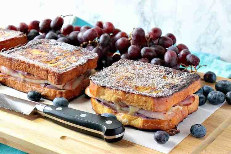 Sweet & Savory Monte Cristo Blueberry French Toast