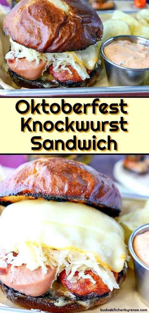 This copycat Oktoberfest Knockwurst Sandwich is my version of a terrific sandwich I'd had while on vacation in Northern Wisconsin. I loved it SO much; I had it twice during the six days we were there. It's that good! - kudoskitchenbyrenee.com