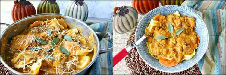 How to make Easy Ravioli with Pumpkin Vodka Sauce & Sausage photo tutorial. - kudoskitchenbyrenee.com