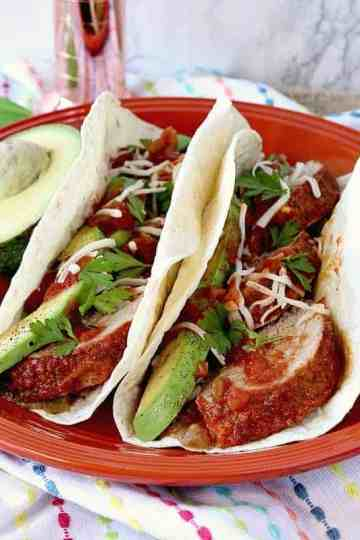Lime Marinated Mexican Pork Tenderloin Tacos - kudoskitchenbyrenee.com