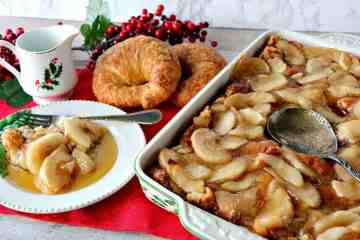 Easy Make Ahead Christmas Morning Croissant Apple Bake - kudoskitchenbyrenee.com