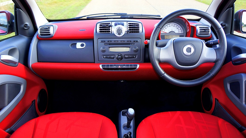 Front dashboard of a car