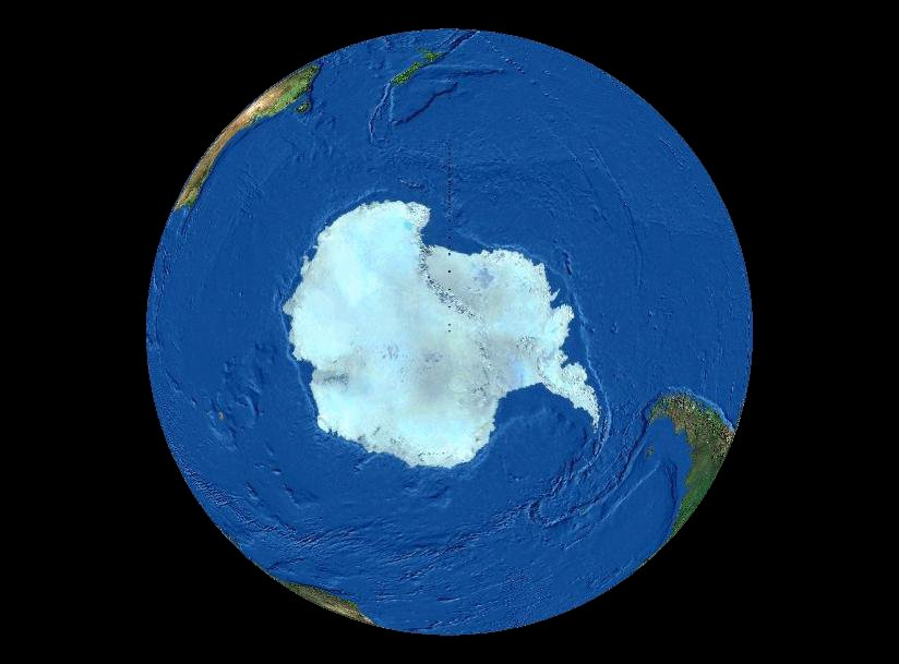 Image result for earth from south pole