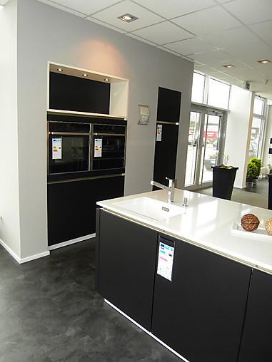 HausmarkeMusterkche Stylische Kche in moderner SchwarzWeissOptik mit WrmeschubladeW