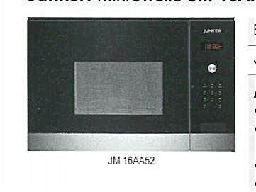 Mikrowellen JM 16AA52 Einbau Mikrowelle Junker