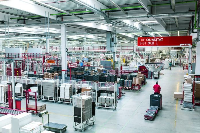 The number of kitchens produced every day will soon multiply for the company. Reliable processing and a good reputation with the customer are important for this. (Photo: nobilia)