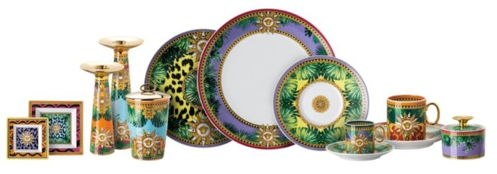 The Jungle Animalier collection, which is limited to this year, includes a service plate, a bread plate, a small bowl, a vase, a scented candle and an ashtray. (Photo: Rosenthal)