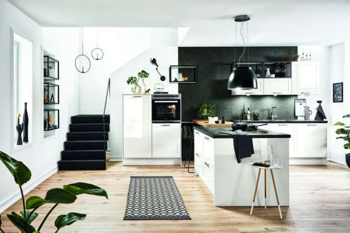 Häcker from Rödinghausen is one of the major German kitchen manufacturers, but is often sold under a different name in studios and furniture stores. The kitchens are rock solid and varied. (Photo: Häcker)