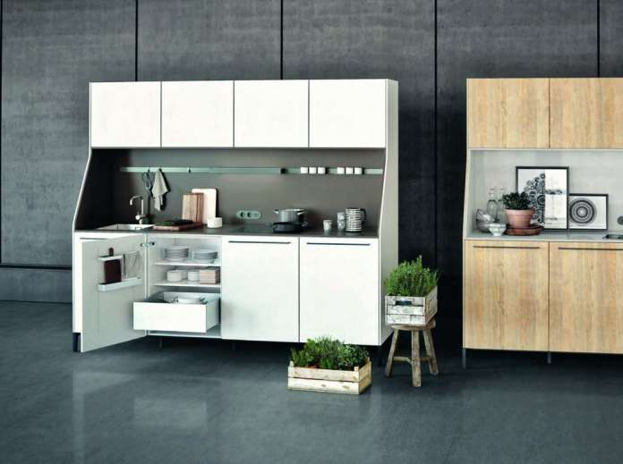 The mini kitchen SieMatic 29 was awarded the German Design Award in gold for its product design in 2016. (Photo: SieMatic)