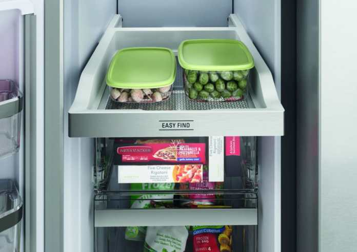 "Even in the freezer of the ""Active Quattro"" from Bauknecht there are pull-out trays that allow access to all stored products.  (Photo: Bauknecht)"