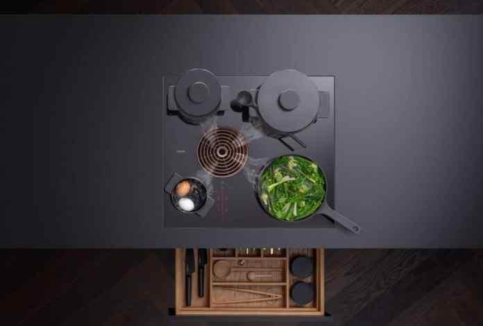 Four cooking zones, four different sizes: the BORA S Pure advertises maximum hob utilization on 60 cm.  (Photo: BORA)